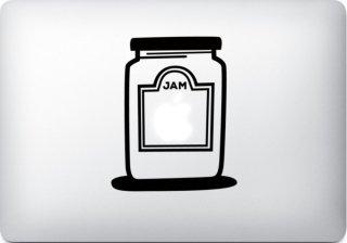 WOLFING 全サイズ対応 MacBook ステッカー アートステッカー スキンシール Apple Jam アップル ジャム ブラック