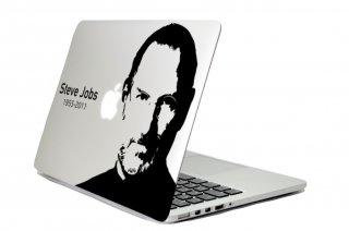 WOLFING 全サイズ対応 MacBook ステッカー アートステッカー スキンシール Steve Jobs  スティーブ・ジョブズ シルエットブラック