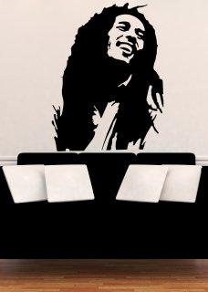 【受注生産品】ウォールステッカー Wall Sticker Bob Marley ボブマーリー ブラック
