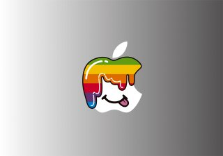 WOLFING 全サイズ対応 MacBook ステッカー アートステッカー スキンシール Candy mac Rainbow レインボーフルカラー