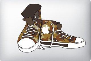 WOLFING MacBook  ステッカー アートステッカー CONVERSE コンバース 迷彩 フルカラー