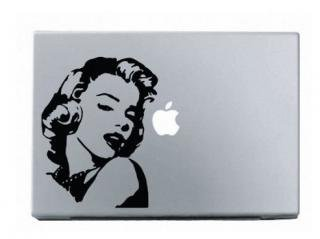 WOLFING MacBook ステッカー オーダーメード対応★ アートステッカー スキンシール Marilyn Monroe マリリンモンロー シルエット ブラック<img class='new_mark_img2' src='//img.shop-pro.jp/img/new/icons59.gif' style='border:none;display:inline;margin:0px;padding:0px;width:auto;' />
