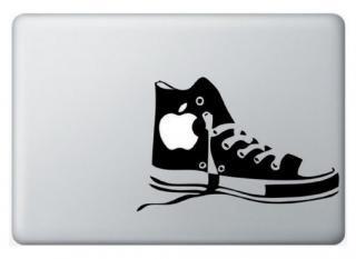 WOLFING MacBook ステッカー オーダーメード対応★ アートステッカー スキンシール CONVERSE コンバース ブラック