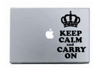 WOLFING MacBook ステッカー オーダーメード対応★アートステッカー スキンシール Keep Calm Carry On ブラック<img class='new_mark_img2' src='//img.shop-pro.jp/img/new/icons59.gif' style='border:none;display:inline;margin:0px;padding:0px;width:auto;' />