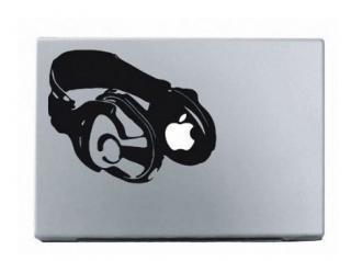 13インチ15インチ17インチMacBook 対応 アートステッカー Headphonesヘッドフォン