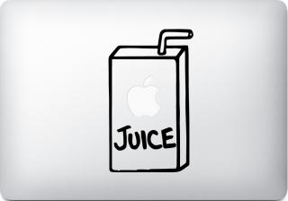 オーダーメード対応★全サイズ MacBook 対応 アートステッカー Apple Juice アップルジュース ブラック