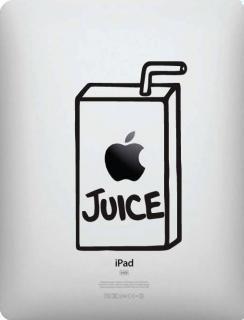 iPad対応 アートステッカー Appleジュース