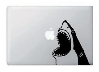 オーダーメード対応★13インチ15インチ17インチMacBook 対応 アートステッカー shark attack