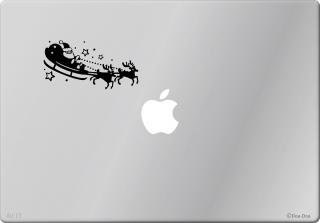 オーダーメード対応★全サイズMacBook ipad対応 アートステッカー クリスマス サンタクロース 限定商品