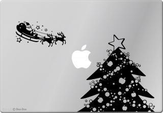 全サイズMacBook対応 アートステッカー クリスマスセット 黒 限定商品