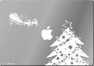 全サイズMacBook対応 アートステッカー クリスマスセット 白 限定商品