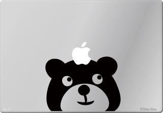 オーダーメード対応★13インチ15インチ17インチMacBook 対応 アートステッカー くまのルドルフ<img class='new_mark_img2' src='https://img.shop-pro.jp/img/new/icons29.gif' style='border:none;display:inline;margin:0px;padding:0px;width:auto;' />