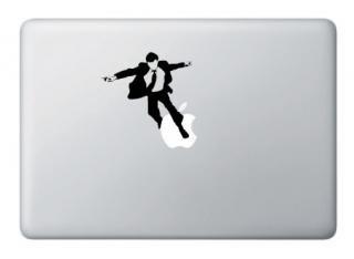 全サイズMacBook 対応 アートステッカー Parkour Man 行けサラリーマン