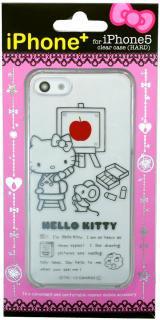 iPhone5,5s用 クリアケース Hello Kitty iPhone+ ハローキティ アイフォンプラス