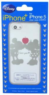 iPhone5,5s用クリアケース Disney iPhone+ ディズニーアイフォンプラス Mickey&Minnie ミッキー&ミニー