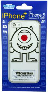 iPhone5,5s用クリアケース Disney Pixer iPhone+ ディズニー ピクサー アイフォンプラス モンスターズユニバーシティ マイク