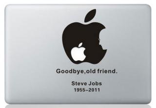 <img class='new_mark_img1' src='https://img.shop-pro.jp/img/new/icons12.gif' style='border:none;display:inline;margin:0px;padding:0px;width:auto;' />WOLFING 全サイズ対応 MacBook ステッカー スキンシール アートステッカー Steve Jobs スティーブジョブス  ブラック