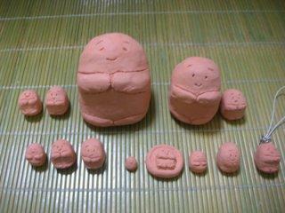 ☆あいさつ地蔵(紙粘土)