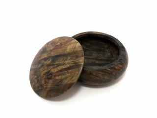 香合 饅頭型 スタビライズドウッド 瘤杢ブラック