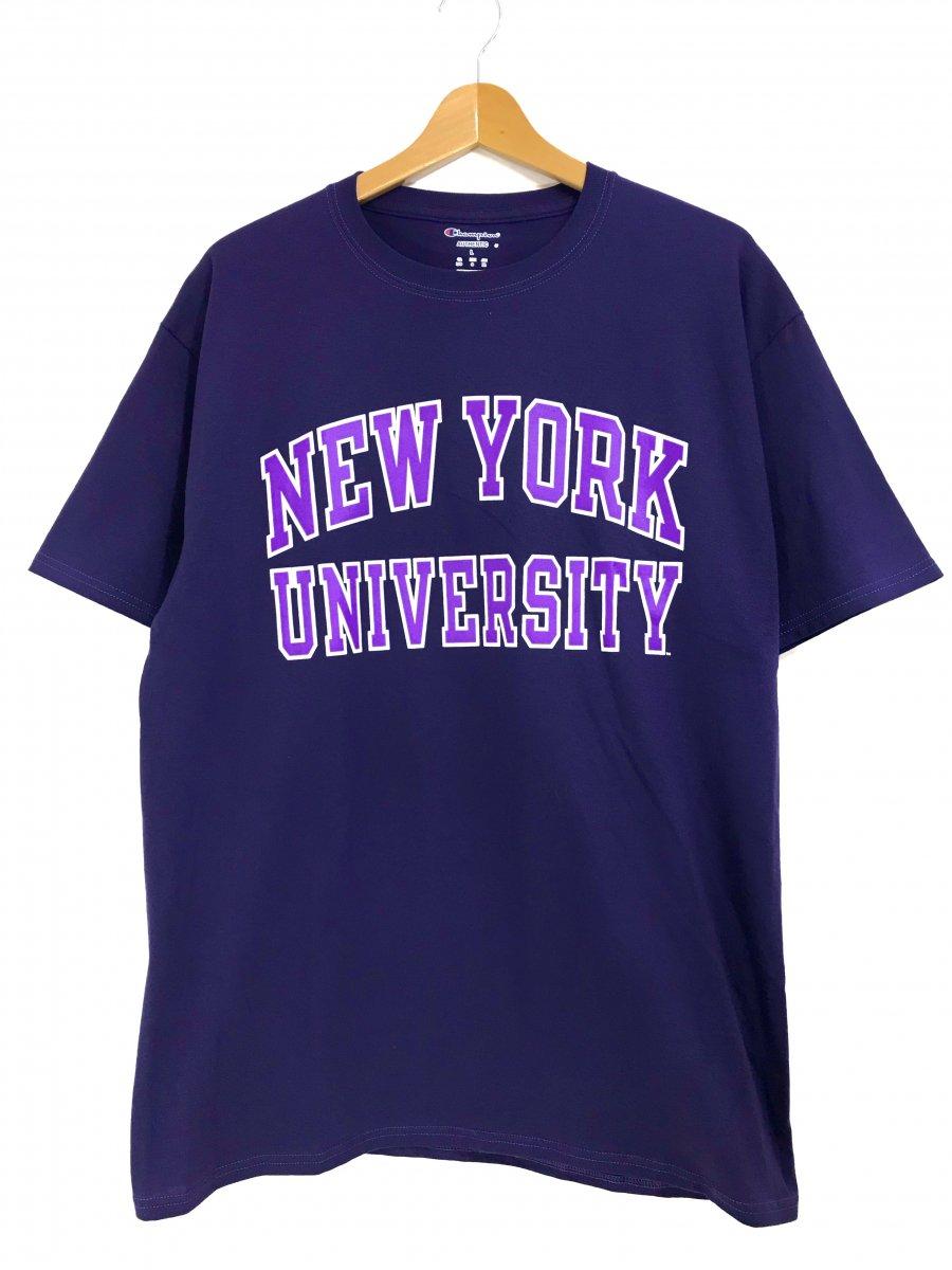 f766cb0bda012d 新品 Champion NYU(New York University ) College Logo S/S Tee PURPLE チャンピオン  ニューヨーク大学 カレッジロゴ Tシャツ - NEWJOKE ONLINE STORE