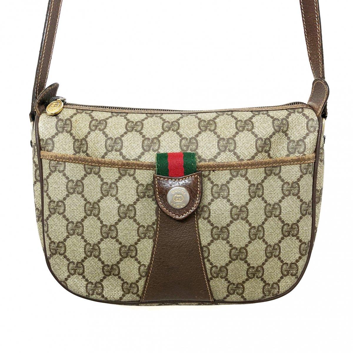 new concept ce395 7c1a2 イタリア製 80s OLD GUCCI Sherry Line GG Pattern Shoulder Bag オールドグッチ シェリーライン GG柄  ショルダーバッグ アクセサリーコレクション - NEWJOKE ONLINE STORE