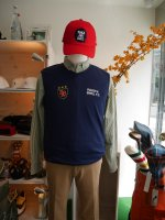 <img class='new_mark_img1' src='//img.shop-pro.jp/img/new/icons14.gif' style='border:none;display:inline;margin:0px;padding:0px;width:auto;' />rough  &  swell    F.C  Vest  /  navy