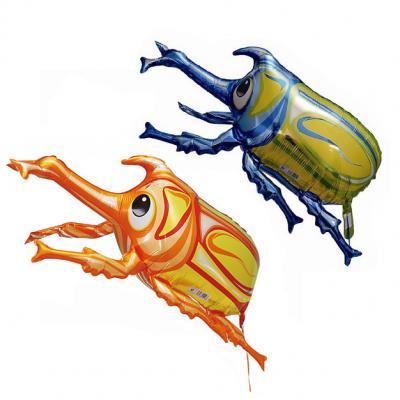 カブトムシ 3Dメタリックバルーン 2色 (全長65cm)