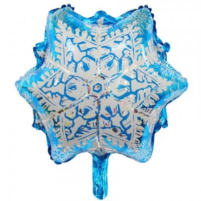雪の結晶 メタリックバルーン (全長46cm)