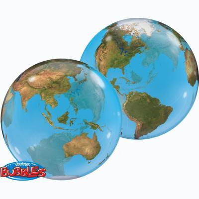 地球 バブルバルーン (直径56cm)
