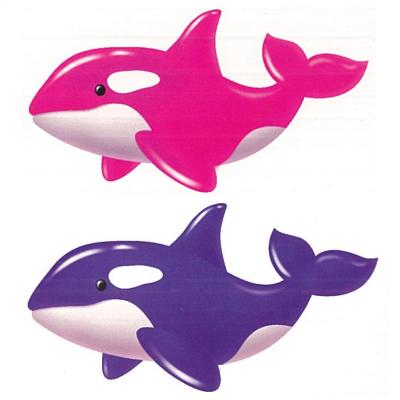 ダイソー シャチ メタリックバルーン 2色 (横68cm×縦45cm)