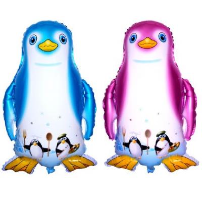 ペンギン メタリックバルーン 2色 (横49cm×縦70cm)