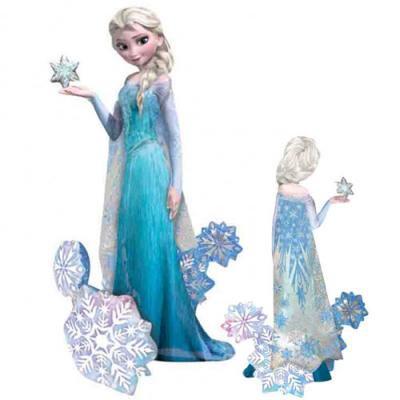 アナと雪の女王 エルサ 等身大メタリックバルーン (横89cm×縦144cm)