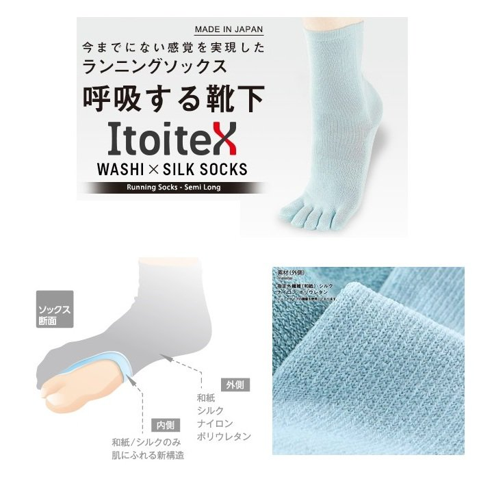 Itoitex Running Socks<img class='new_mark_img2' src='//img.shop-pro.jp/img/new/icons5.gif' style='border:none;display:inline;margin:0px;padding:0px;width:auto;' />