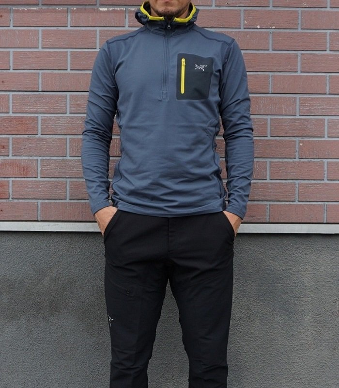 Rho LT Hooded Zip Neck