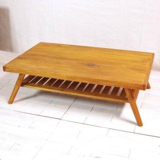 アンティークチーク 収納付きセンターテーブル 120