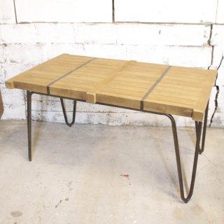 【blocc】ミンディ&アイアン  4人掛けダイニングテーブル 140