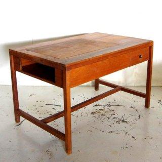 アンティークチーク 収納付きダイニングテーブル