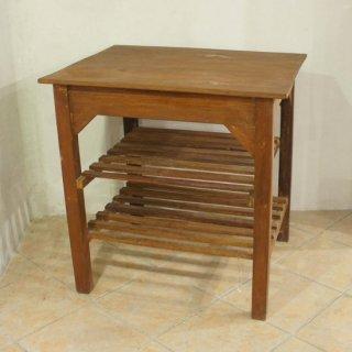 アンティークチークサイドテーブル
