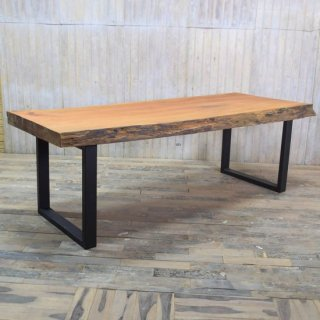 マホガニー一枚板 ダイニングテーブル