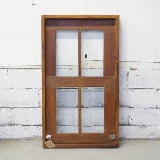 アンティークチーク 枠付きスライド窓