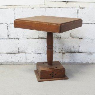 アンティークチーク スクエアサイドテーブル