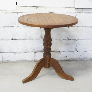 アンティークチーク 2人掛けラウンドテーブル