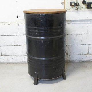 ドラム缶カウンターテーブル ブラック