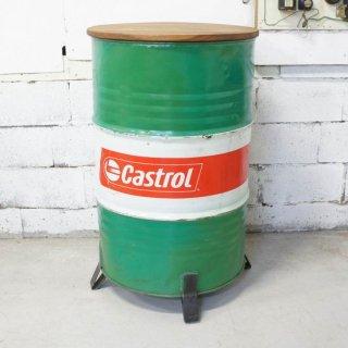 ドラム缶カウンターテーブル CASTROL