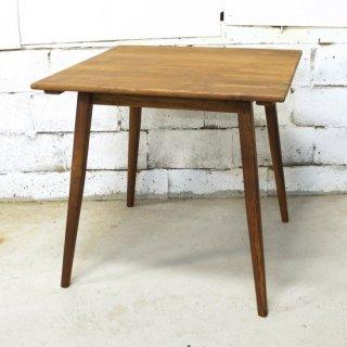 チーク 2人掛けダイニングテーブル 80cm