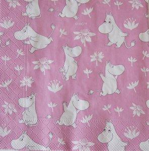 ムーミン ペーパーナプキン ピンク 3...