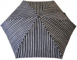 マリメッコ PICCOLO 折りたたみ傘 ミニ ブラック×ホワイト