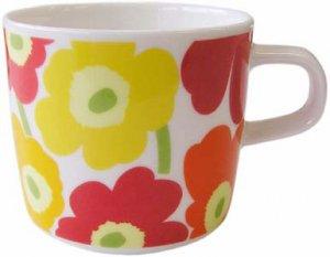 マリメッコ MINI UNIKKO COFFEE CUP 2DL オレンジピンク