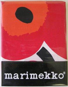 マリメッコ UNIKKO シャワーカーテン 赤