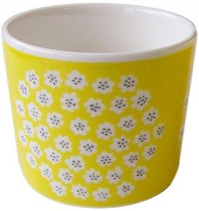 マリメッコ PUKETTI COFFEE CUP イエロー×ホワイト×グレー